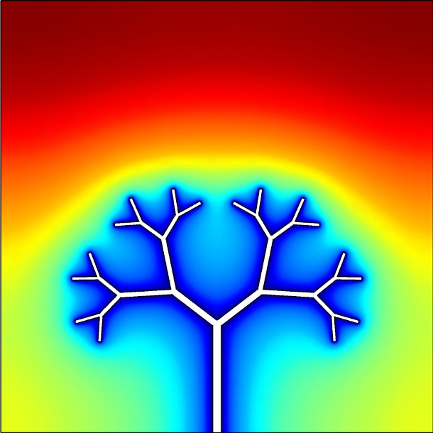 Materials melt faster when the lines of heat spread through the cold material like the branches of a tree -- and the melting rate can be increased by allowing the tree architecture to evolve over time, researchers have discovered. The finding could help improve phase change energy storage systems, and could play an role in ensuring a smooth flow of energy from renewable sources.